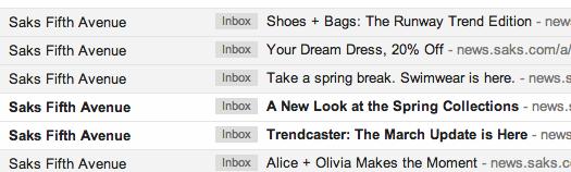 Saks Email